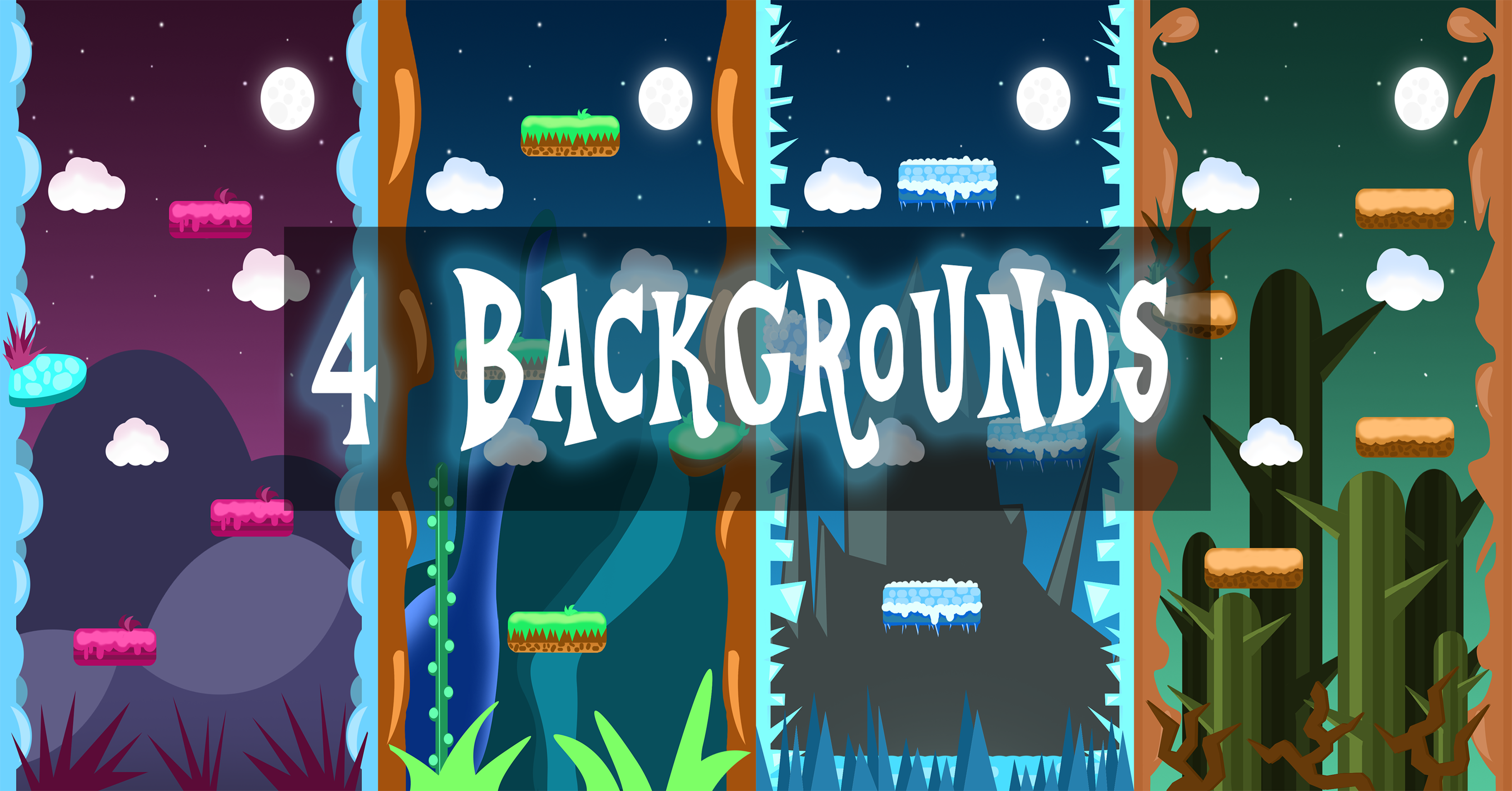 FREE VERTICAL 2D GAME BACKGROUNDS