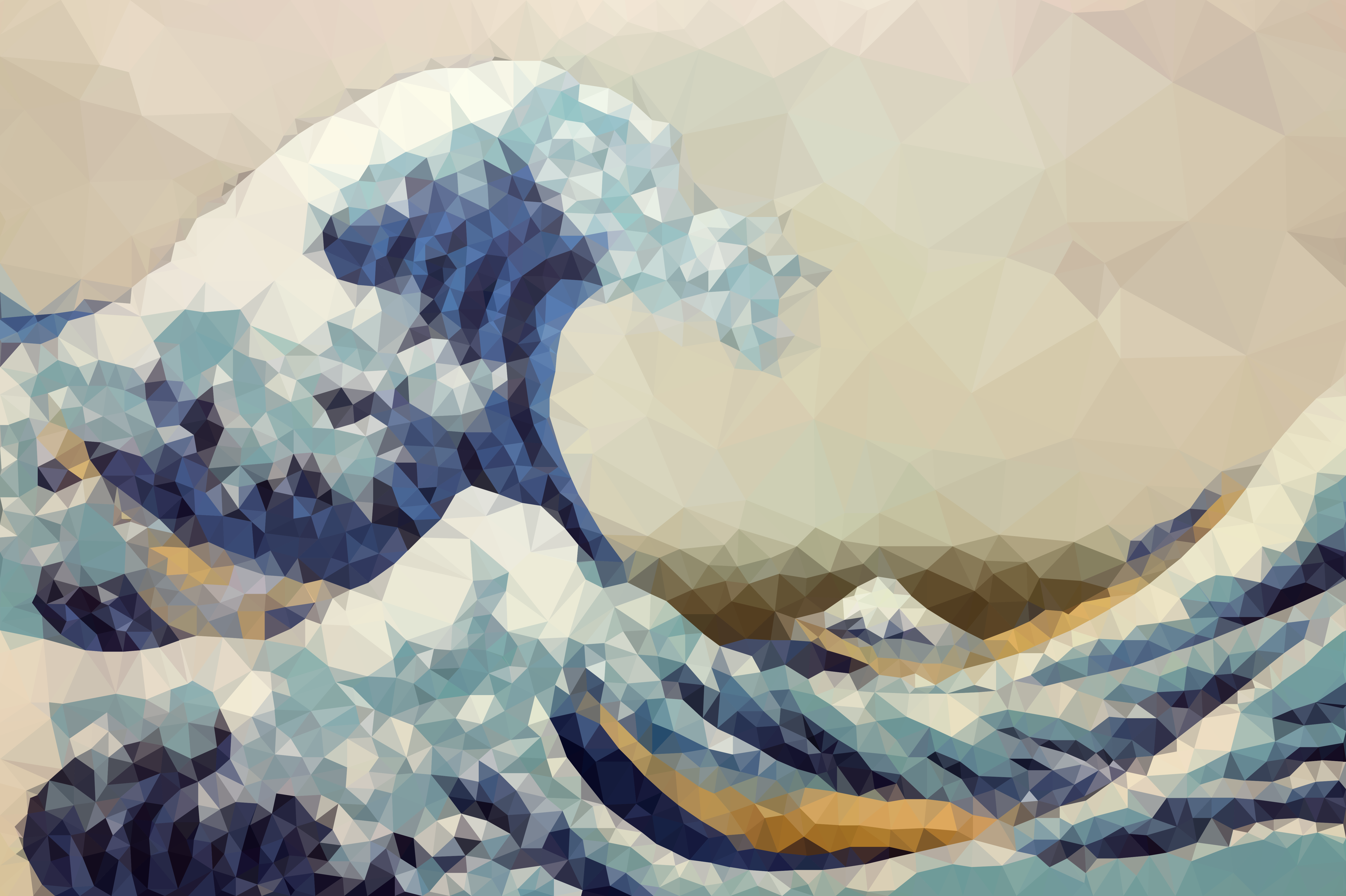 Poly Art of The Great Wave