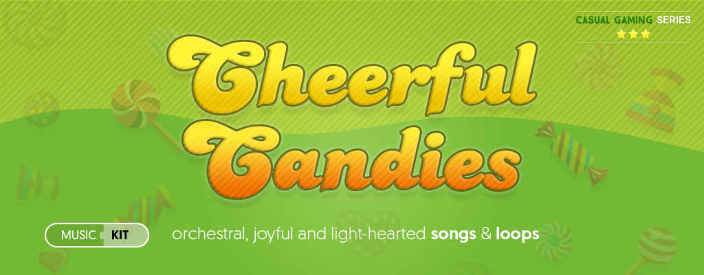 Cheerful Candies - casual games music kit
