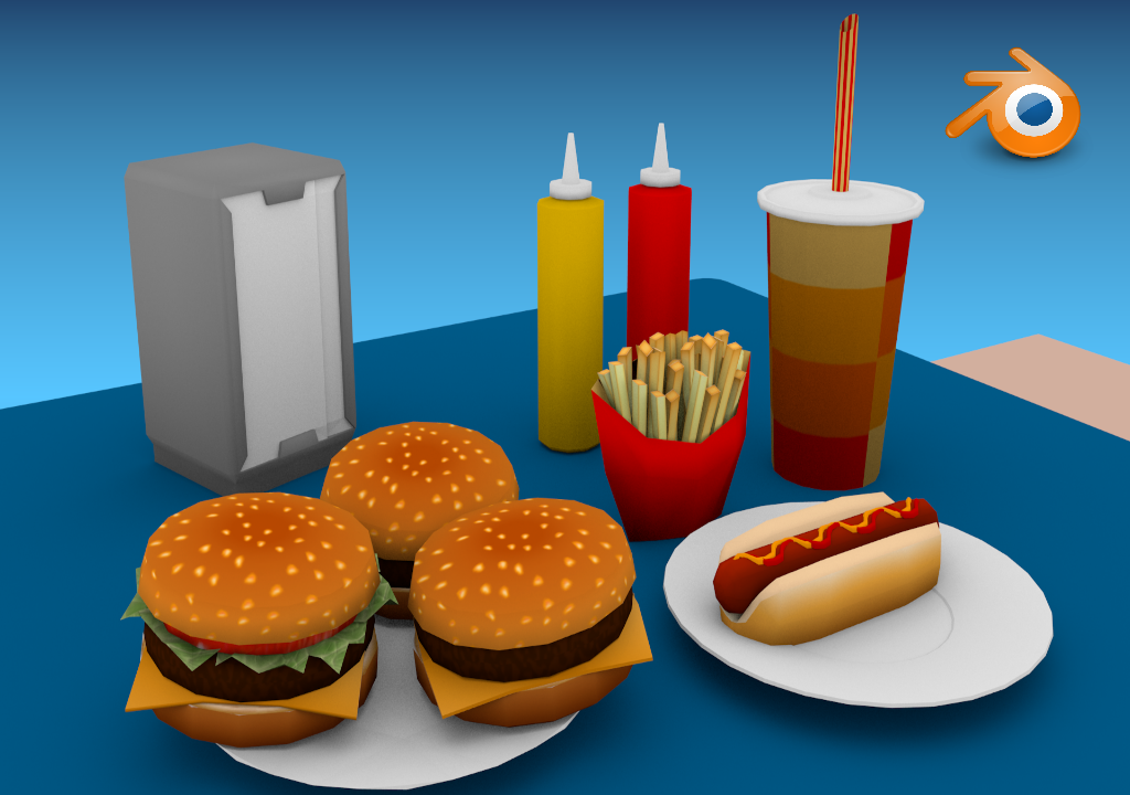 Low Poly Fast Food Prop