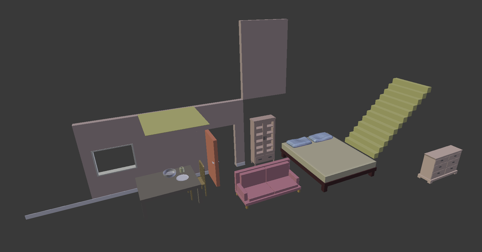 3D Models - Domestic Assets Package -Old Free Version- by