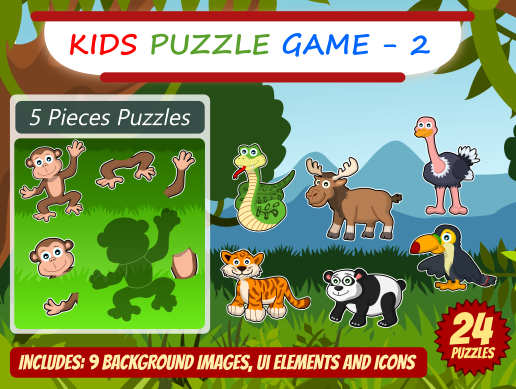 Kid Puzzle Game 2D Asset Pack 2