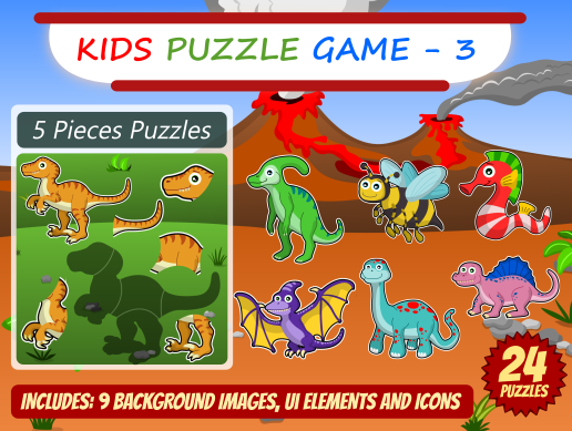 Kid Puzzle Game 2D Asset Pack 3
