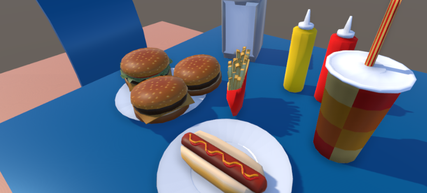 Low Poly Fast Food Props