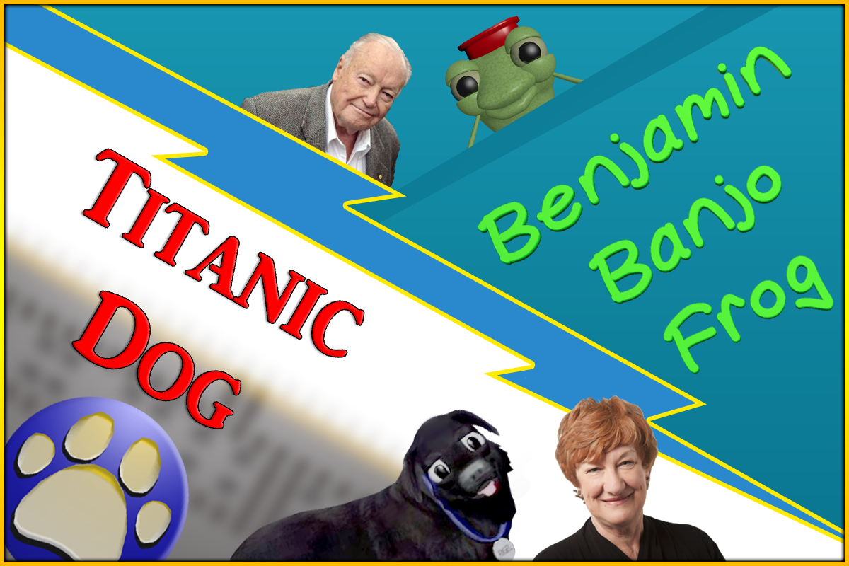 Benjamin Banjo Frog + Titanic Dog
