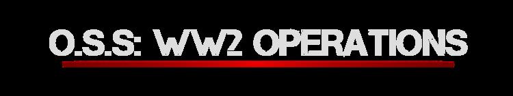 OSS: WW2 Operations™