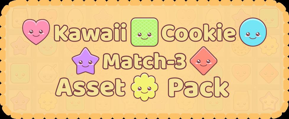 Kawaii Cookie Match-3 Asset Pack