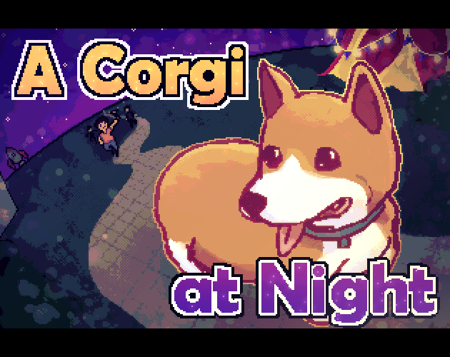 A Corgi At Night