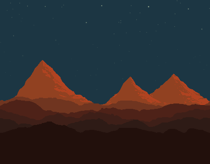 Free Pixel Art Background Desert Day Night By Blank Canvas