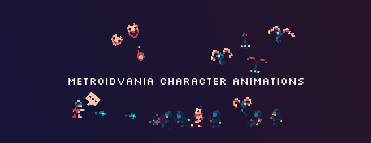 Metroidvania Characters & Animations