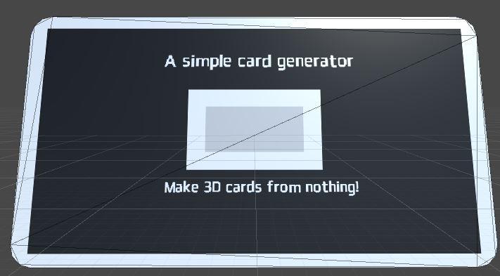 A Simple Card generator