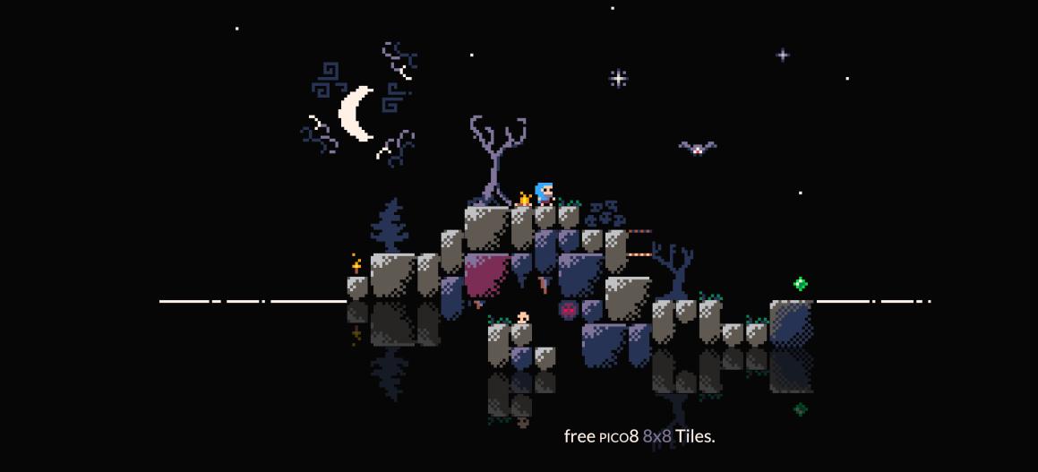 Free PICO-8 Pixelart Tiles