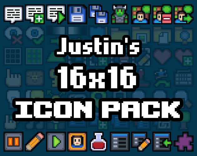 Justin's 16x16 Icon Pack by Justin Arnold