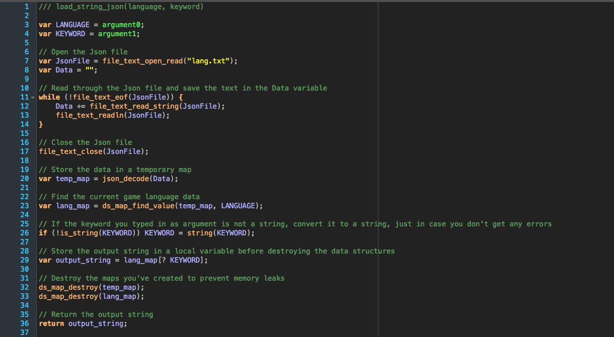 Json Localization - Game Maker: Studio 1 4/2 by AlexDer