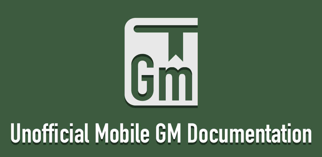 Unofficial Mobile GM Documentation