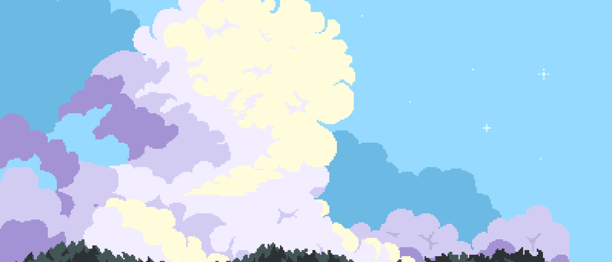 FREE pixelart clouds background
