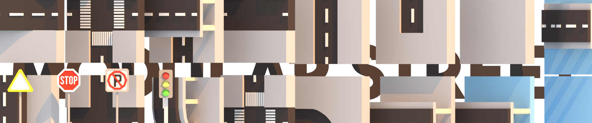 LowPoly Modular Street