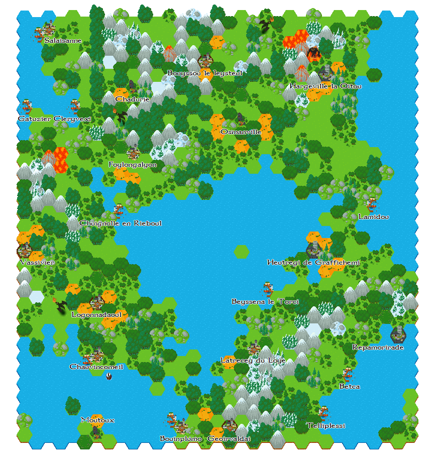 Fantasy Hex Tiles by CuddlyClover