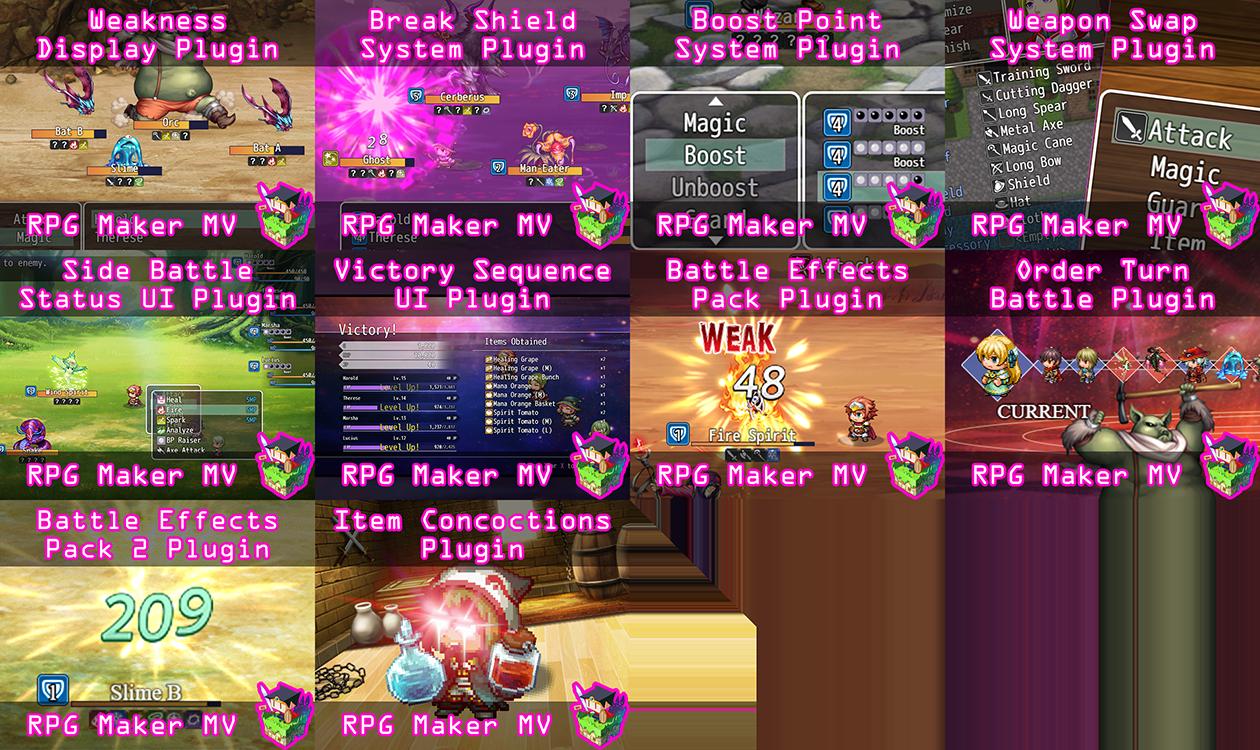 OctoPack Battler Sample Project for RPG Maker MV by Olivia, Yanfly