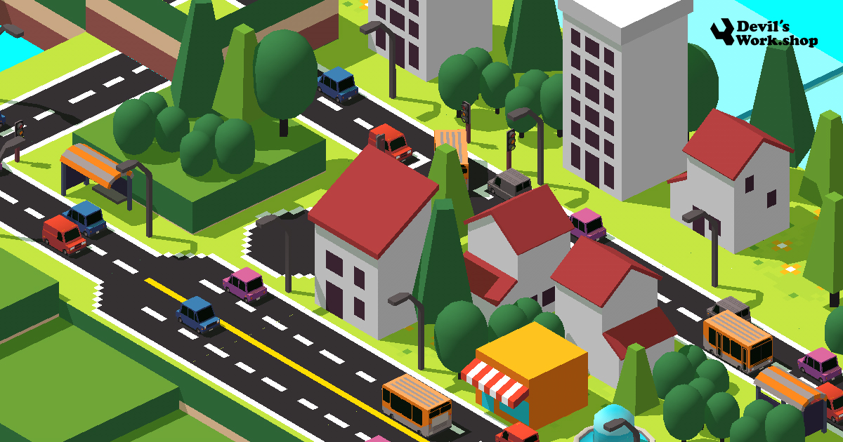 Low Poly 3D City Builder