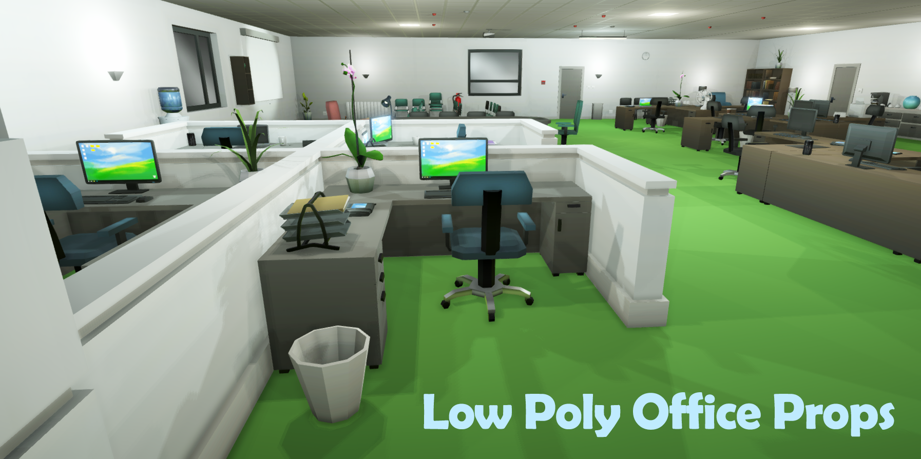 Low Poly Office Props