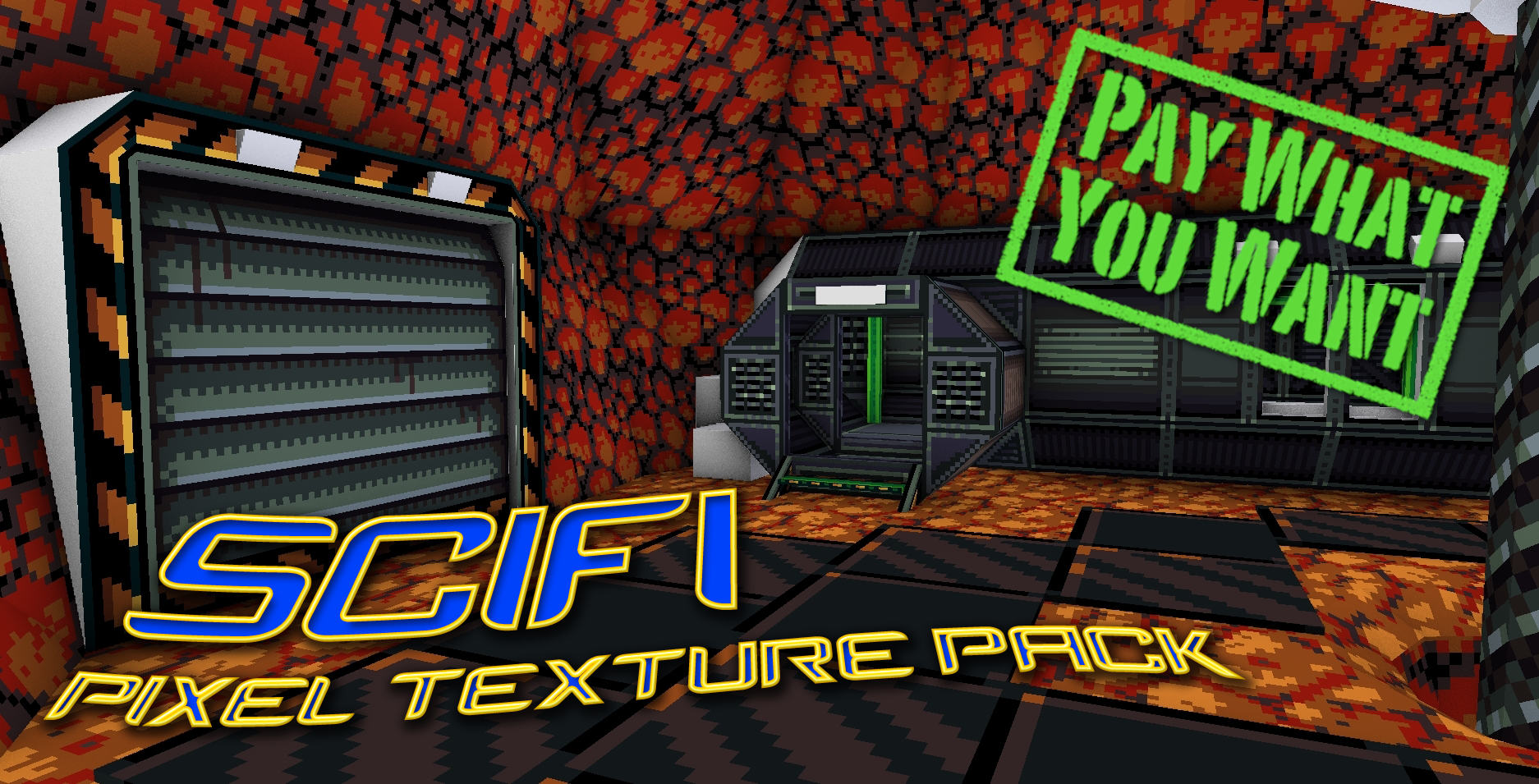 Scifi Pixel Texture Pack