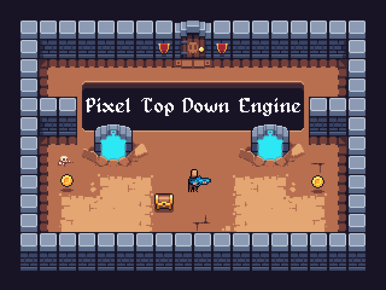 Pixel TopDown Shooter Engine