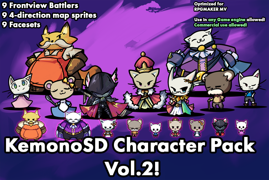 KemonoSD Character Pack Vol.2!