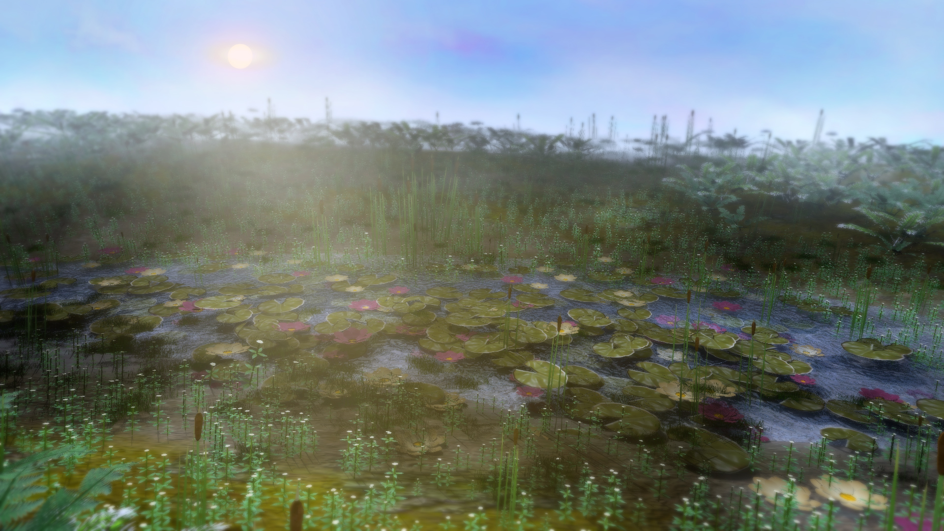 Marshes and Meadows 3d asset pack
