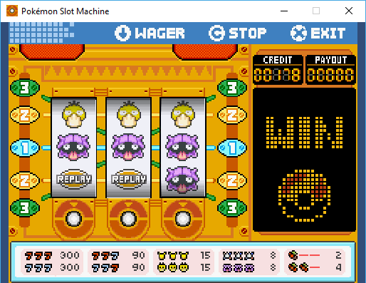 Pokémon Unity Slot Machine by Manurocker95