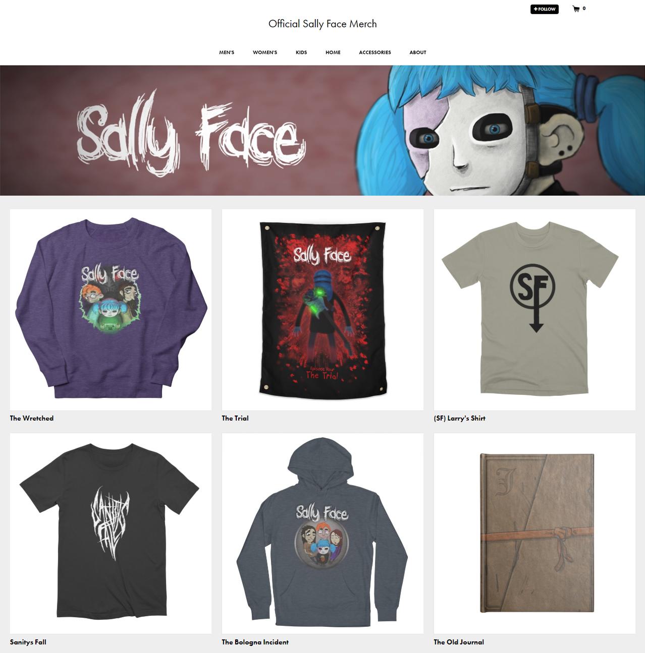 Sally Face Merch