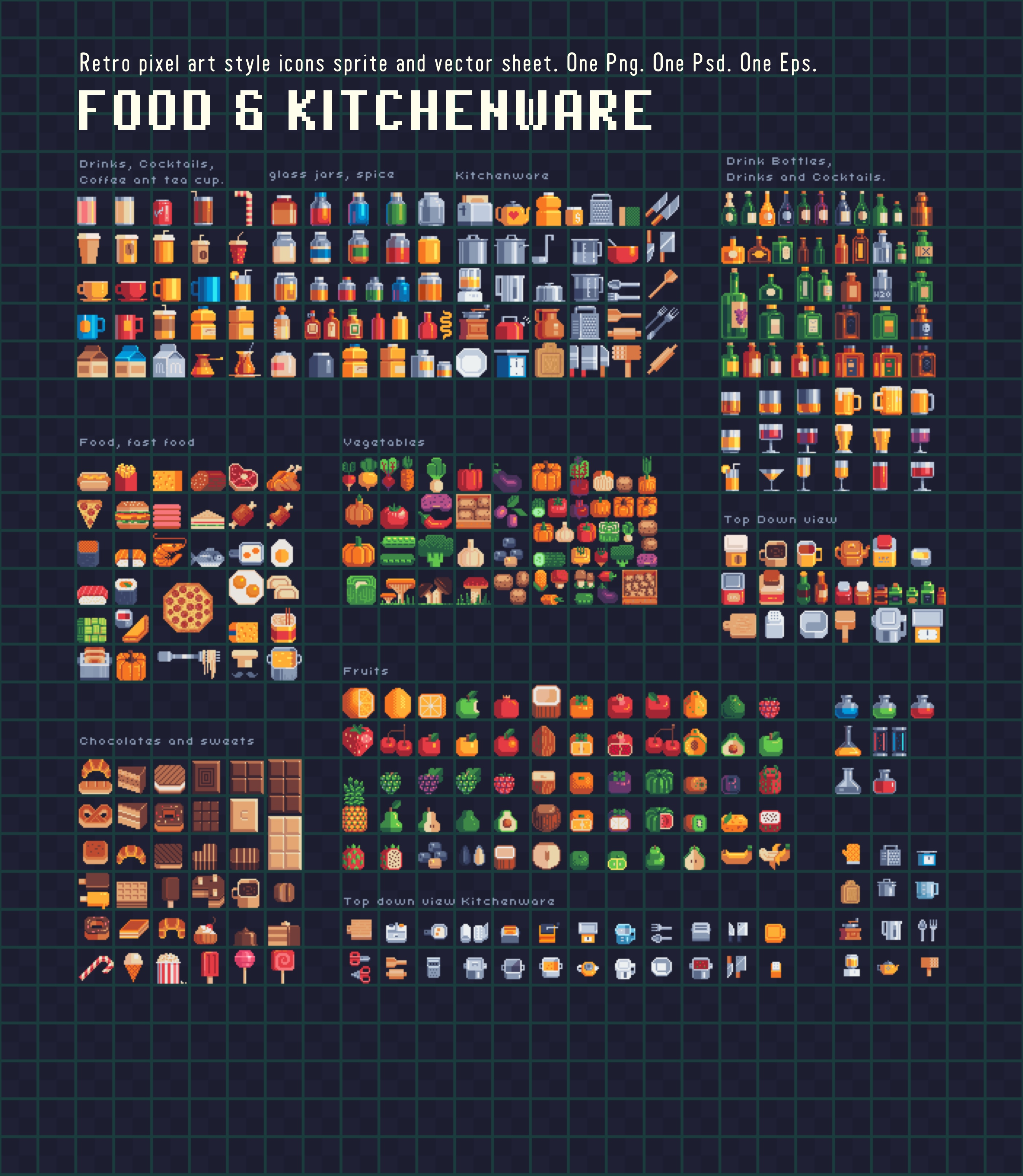 Food and little bit of kitchenware by VectorPixelStar