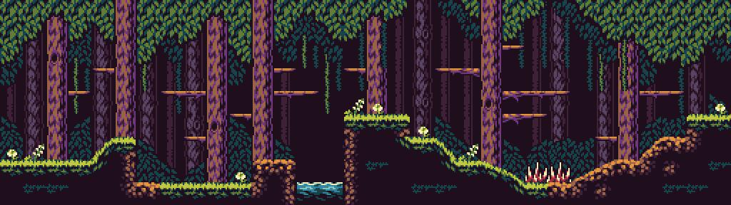 Deep Forest - 16 Colour Tileset