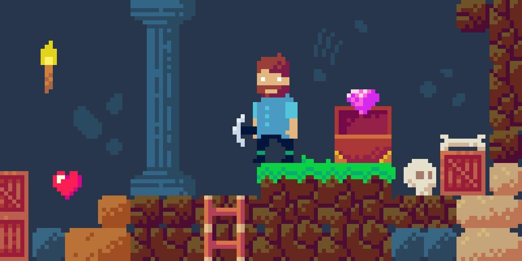 Cave explorer pixel art asset pack