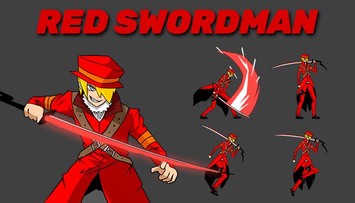 Red Swordman Sprite Pack