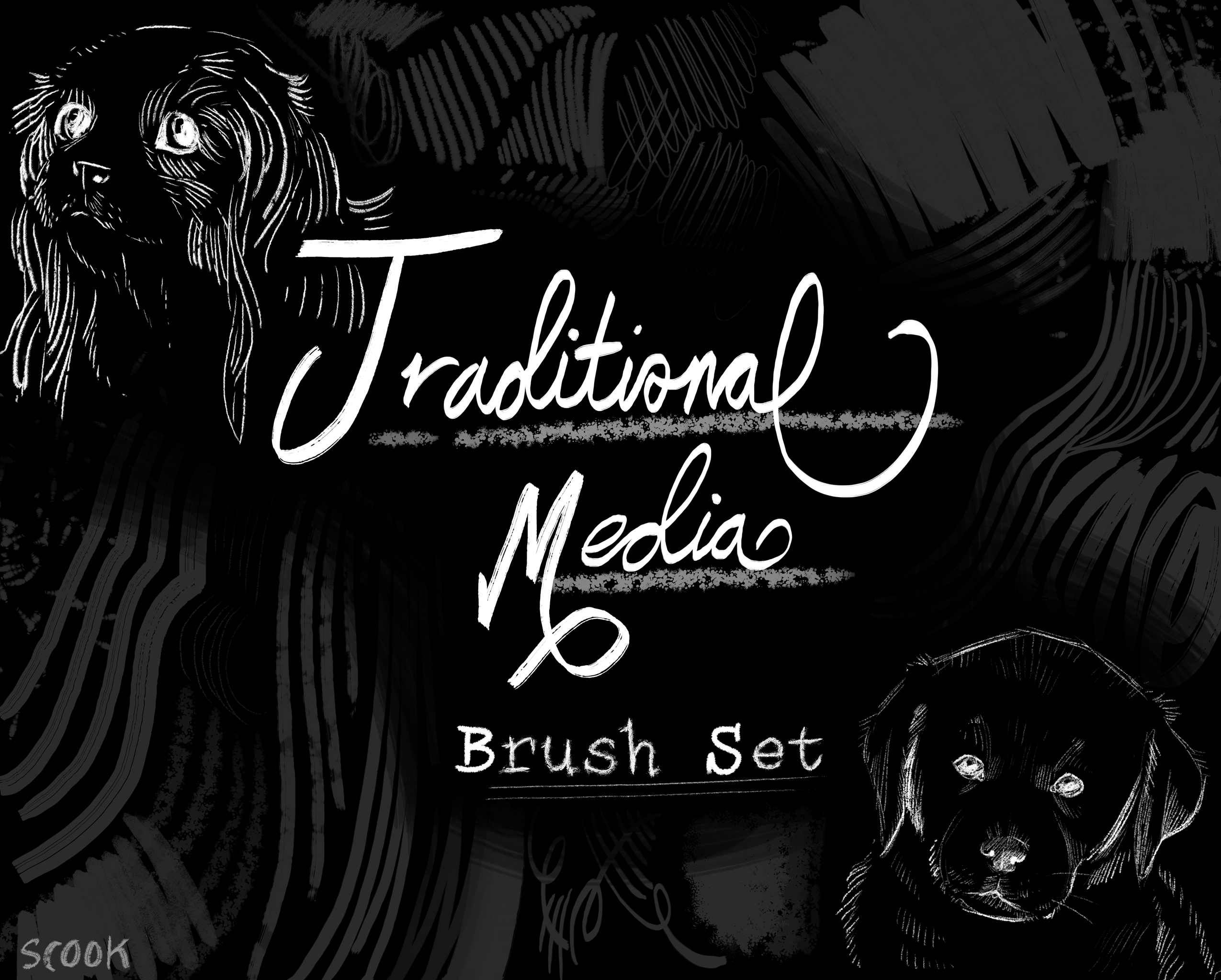 Traditional Media Brush Set