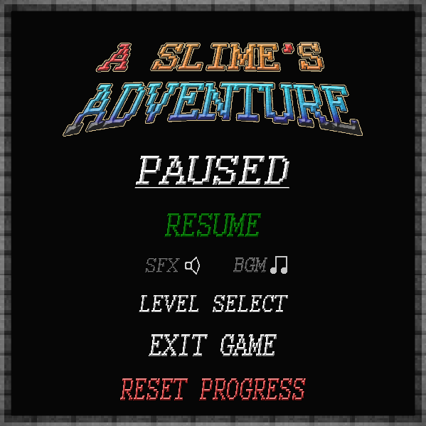 CONTROLLER AND PAUSE MENU ADDED V1 2! - A Slimes' Adventure