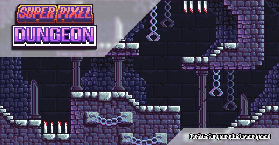 Super Pixel Dungeon Tileset