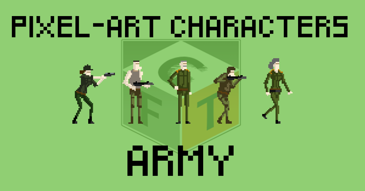 Pixel-Art Characters - Army