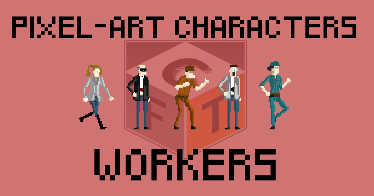 Pixel-Art Characters - Workers