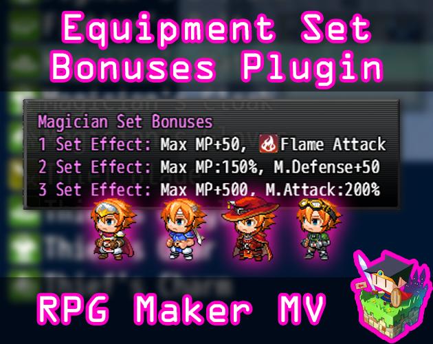 Equipment Set Bonuses plugin for RPG Maker MV by Olivia