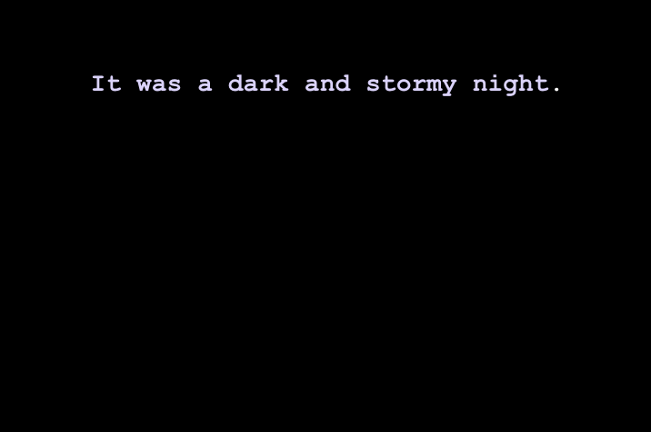 It was a dark and stormy night... by Sand Gardeners