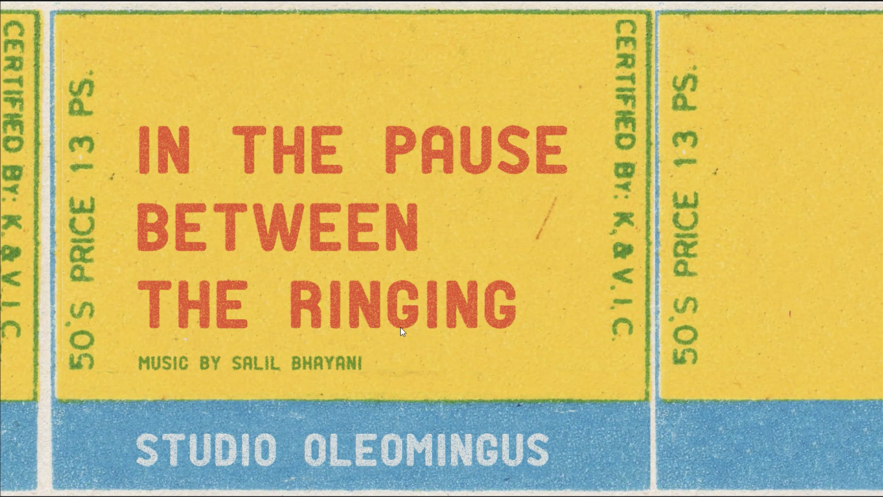 In the Pause between the Ringing by Studio Oleomingus