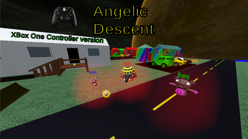 Angelic Descent PC game uses a Xbox One controller