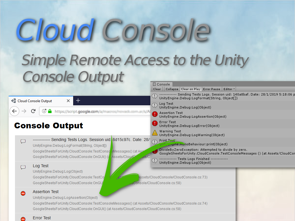 Cloud Console For Unity by Novack
