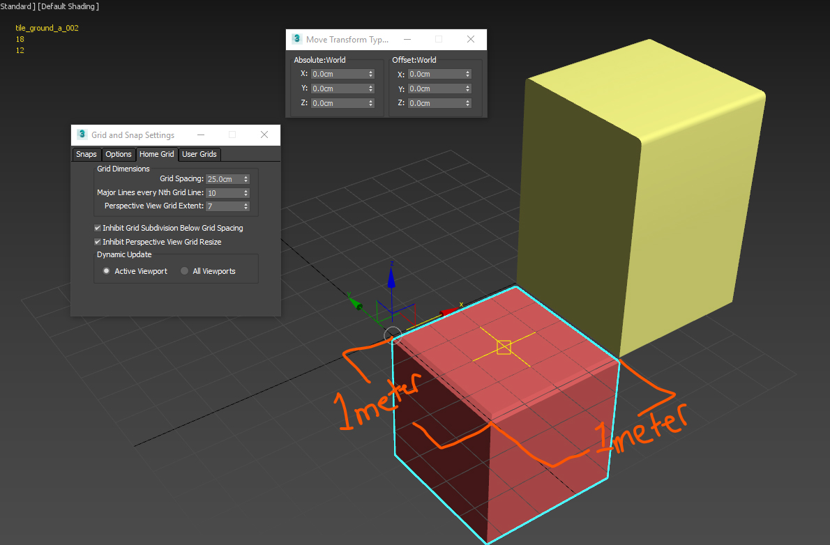 Grid Snapping in 3DsMax