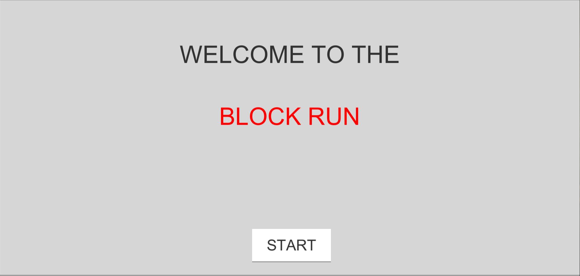 the block run