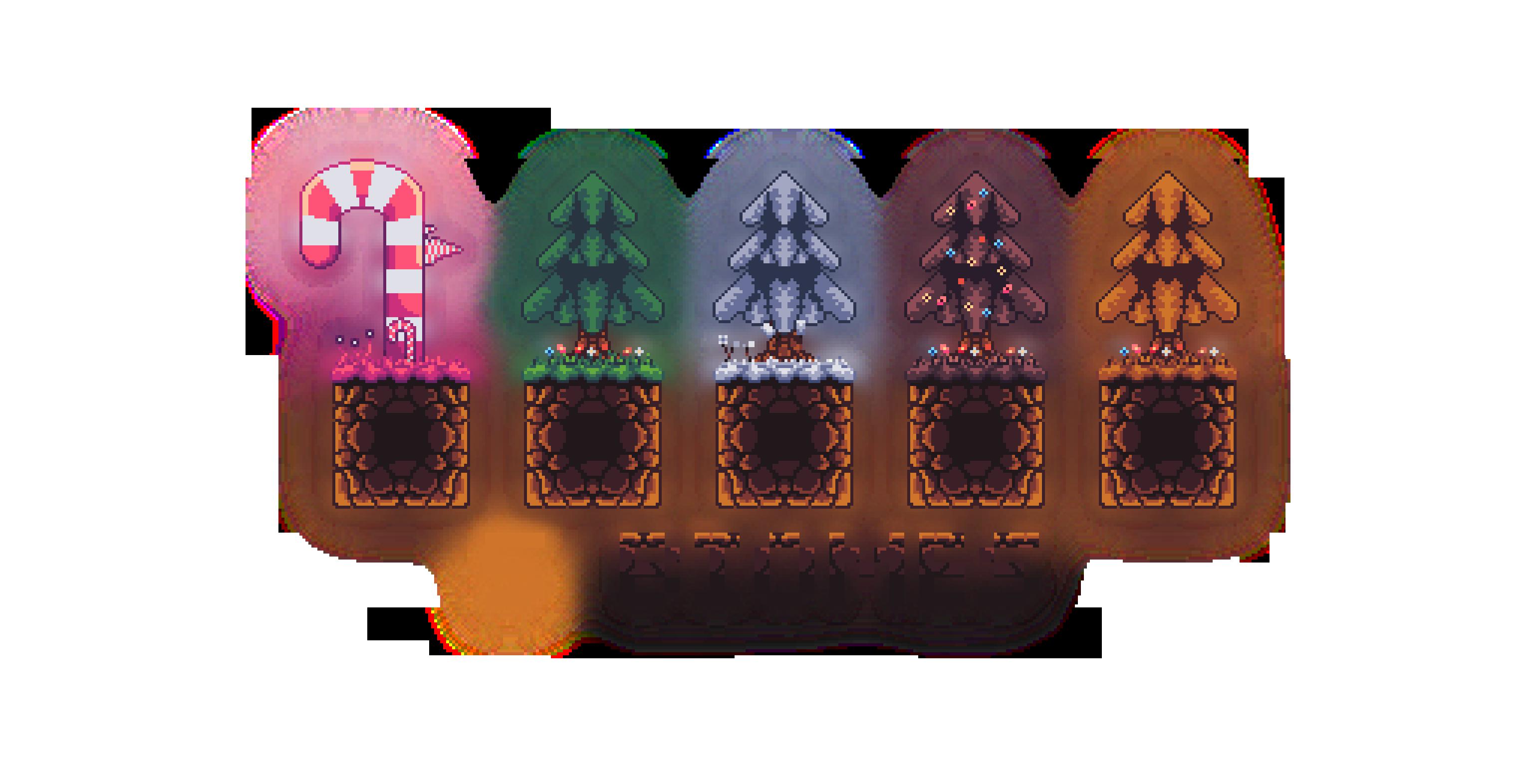 5 Biomes Fantasy Platformer Tileset (NEW BIOME: COSMOS)