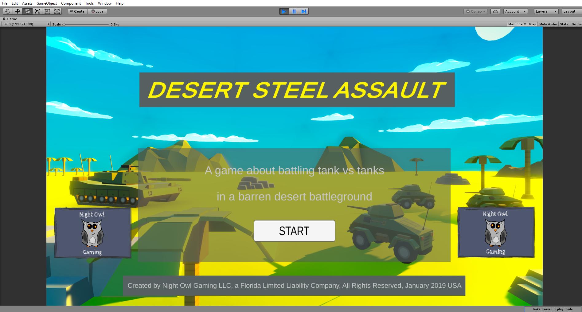 Webgame under production - Desert Steel Assault - Desert Steel