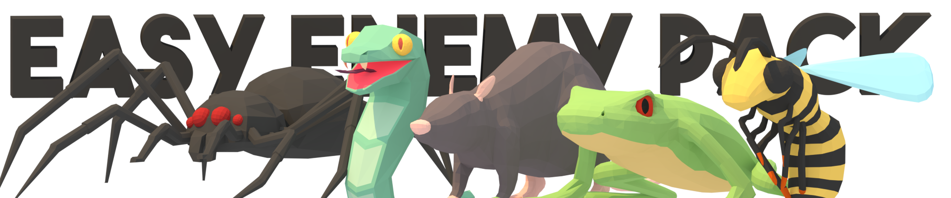 LowPoly Animated Easy Enemies